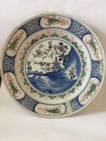 Antik 17-18. századi delft tál keleti mintával