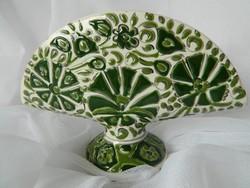 Szépséges zöld kerámia szalvétatartó