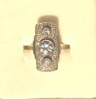 Eredeti art deco gyűrű 1,25 karát gyémánttal