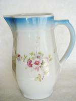 Régi virágos népi porcelán kancsó kiöntő