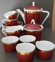 Hollóházi porcelán teáskészlet - 6 személyes