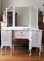 Vintage,Provence stílusú fésülködőasztal