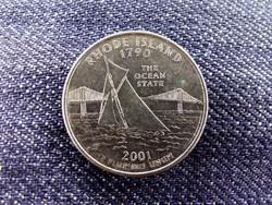 USA Rhode Island 1/4 Dollár 2001 D BU / id10560/