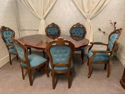 Neobarokk étkező 6db pompás székkel
