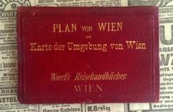 Bécsi bőrtokos zsebtérkép XIX..szd.vége
