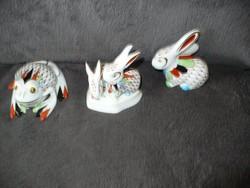 Hollóházi GARDEN festésű nyuszi pár nyúl