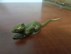 Réz patkány szobrocska