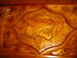 Jaguár Backgammon Faragott fa  ostábla