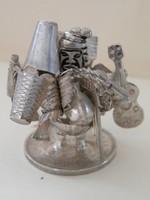 Mini ezüst figura, bolíviai régi ezüst érmén