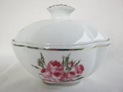 Aquincumi porcelán rózsás bonbonier