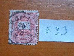 5 (K) 1888- Fekete számú krajcáros  KOMÁROM 1891 E93  #