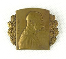0X803 Antik Ferenc József réz sapkajelvény 1915