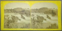 Sztereofotó svájci vízesésről: Rhine Falls