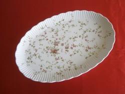Nagyon régi Ilmenau porcelán kínáló tál, pecsenyés vagy süteményes tányér rózsa mintával