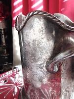 Régi füles asztali bortartó + cseppfogó borgyűrű