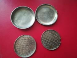 Zsebóra hátlap ezüst 2 és 2 db pórvédő EZÜST 33,47 G