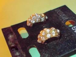 Milano Brizzi márkás kristály Arany b. Fülbevaló