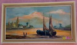 Halászbárkák pirkadatkor, a nyugalom kikötőjében