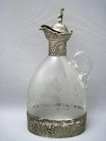 Gyonyoru antik ezust/kristaly karaffa
