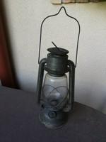 Antik viharlámpa fogantyúval Lámpagyár (régi dekoráció lámpa)