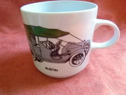 Alföldi porcelán bögre veterán autós dekorral
