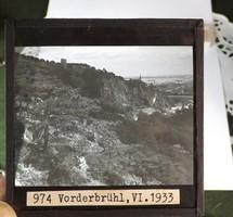 Üveg fotó negatív 1933 -ból