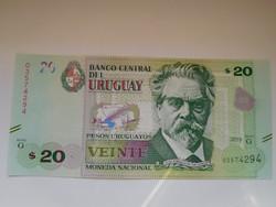 Uruguay 20 pesos uruguayos 2015 UNC
