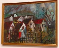 Dombos Falu festmény eladó