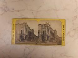 Vigadó 1864-es megnyitás elötti sztereó fotója. Budapest, sztereó fotó, 19. század.