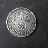 Német birodalmi 5 márka. HINDENBURG emlékérem