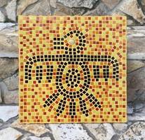 Drozdik Ili grafikus: Maja motívumok II.- üveg mozaik falikép