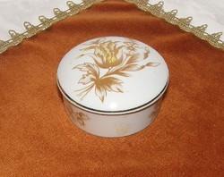 Hollóházi porcelán ékszer-, gyűrűtartó