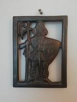 Retro jelzett Karcagi falidísz, falikép - Rusói István keramikus, 3db
