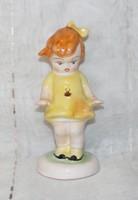 Katica ruhás kerámia kislány figura