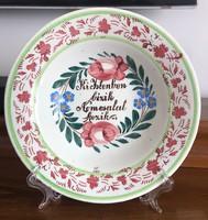Apátfalvi / Bélapátfalvi tányér