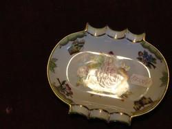 Herendi porcelán Viktória mintás hamutál. Jelzése: 7793/VBO.