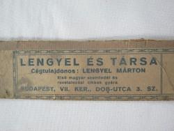 Régi papír címke