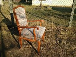 Szép antik neobarokk karosszék / szép faragott keményfa szék