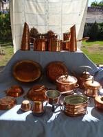 Hatalmas réz főző és sütemény gyűjtemény eladó 22 DARABÓL ÁLL nagyobb méretek is