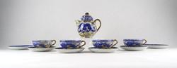 0X969 Régi japán 4 személyes porcelán teáskészlet