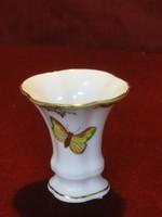 Herendi porcelán, Viktória mintás kis váza. 7 cm magas.