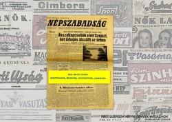 1972 szeptember 24  /  NÉPSZABADSÁG  /  SZÜLETÉSNAPRA! RETRO, RÉGI EREDETI ÚJSÁG Szs.:  10833