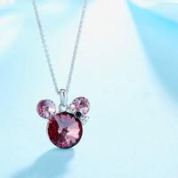 Szerencsehozó Mickey egér Swarovski kristály medál és lánc