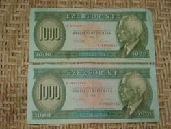 "BARTÓK 1000 FT FORINT 1993  ""D""+""E""  2 DB !!!"