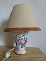 Extrém ritka Bodrgokeresztúr-i pipacsos éjjeli lámpa,dekor lámpa