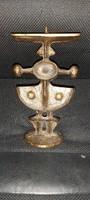 Papp Zoltán bronz gyertyatartó