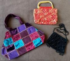3 db elegáns táska, alkalmi retikül