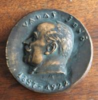 Madarassy Walter - Vadas Jenő bronz emlékplakett