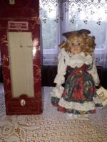 Katherine Porcelán Baba Eredeti Dobozában!+ Ajándék Régi Baba Dobozában