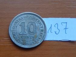 MALAYA 10 CENT 1948 137.